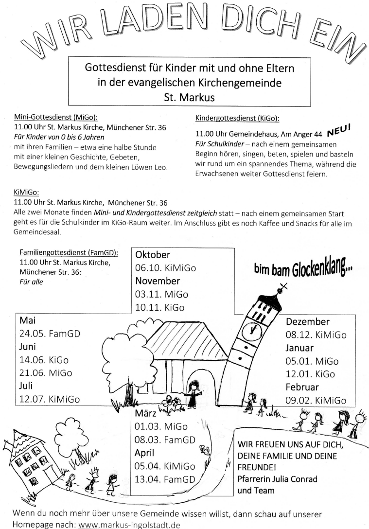 Gottesdienst St Markus Ingolstadt